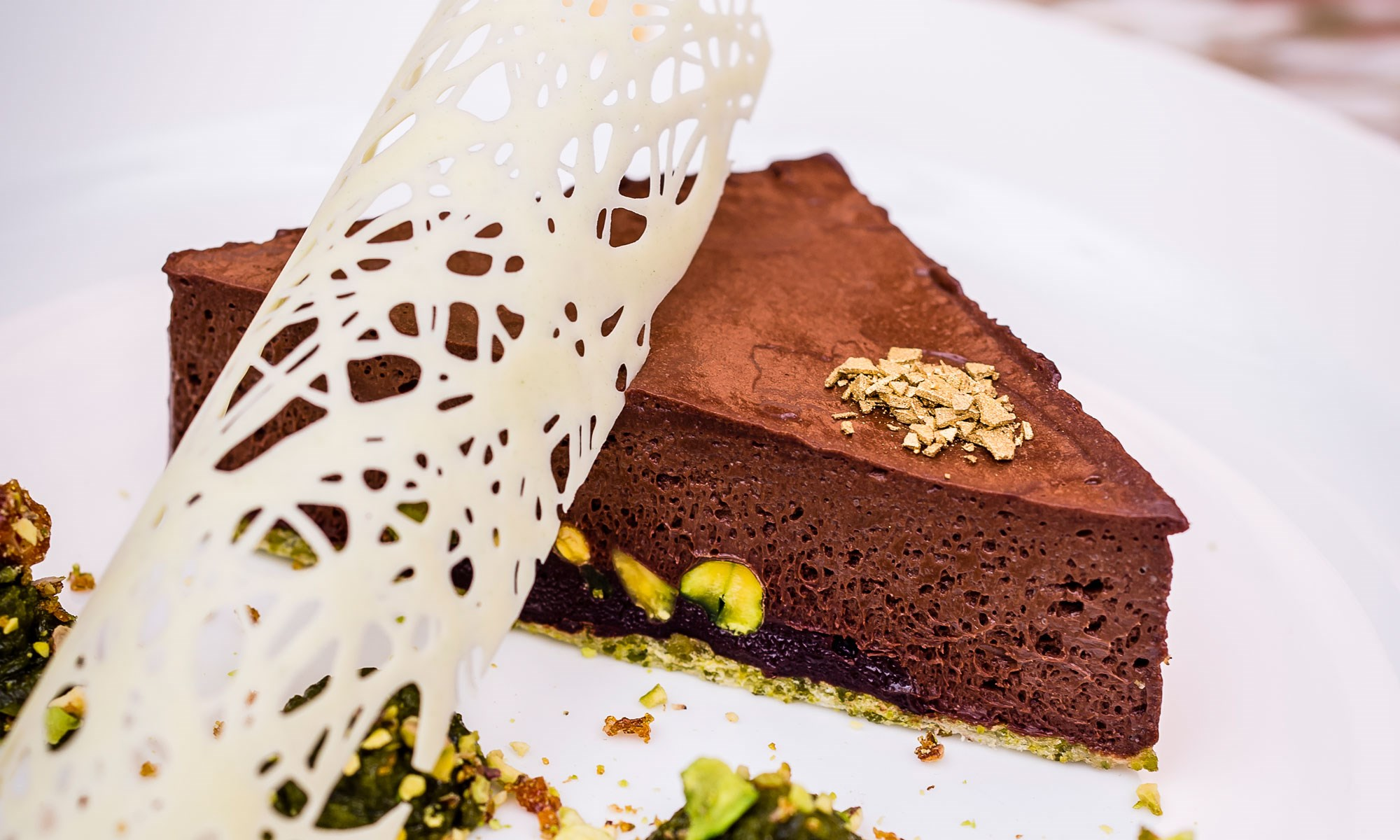 daphnes amedei chocolate mousse with pistachio by paul winch furness