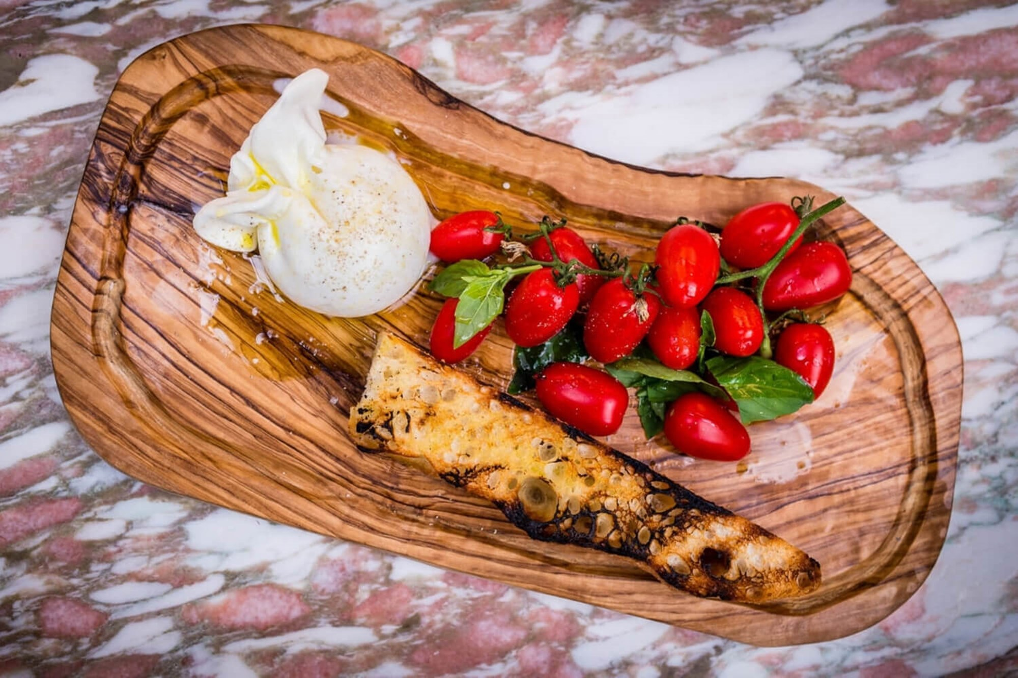 Daphne's burrata is served for lunch and dinner at the restaurant in Chelsea
