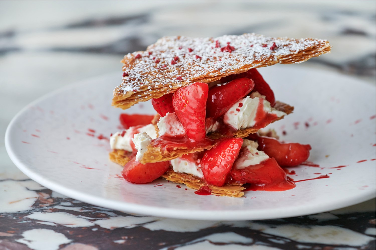 Daphne's Strawberry & mascarpone millefoglie